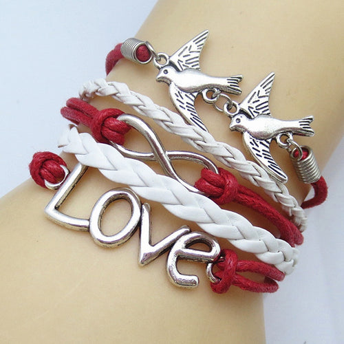 Leather Charm Bracelet_02ll / 7 Colors available, Click to View