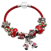 XMas Leather Bracelet_ 11lp/ 10 Various Pendant Available, Click to View