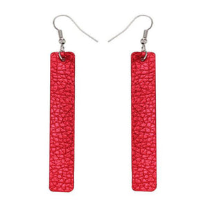 Leather Long Earrings _22le/ 8 Colors Available, Click to View