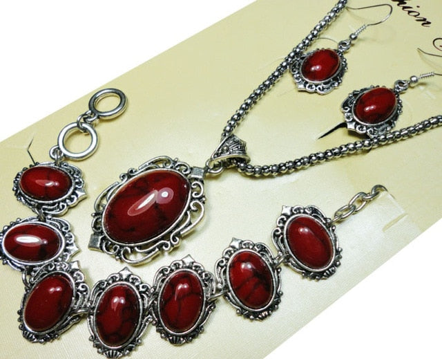 Antique Silver Jewelry Set