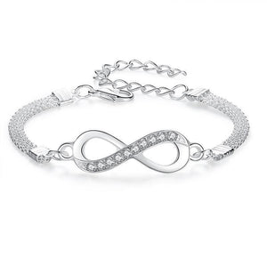 Hot Fashion Silver plated Infinity Bracelet
