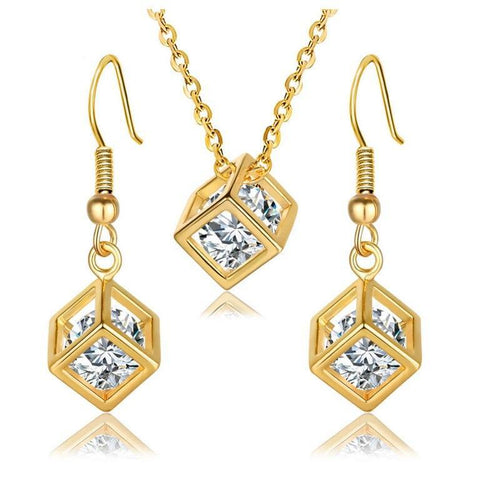 Charms Zircon Jewelry Set