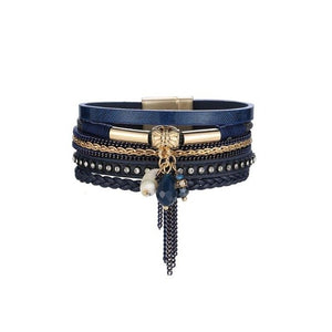 Leather Bracelet_01ld/ 4 Colors Available; Click to View
