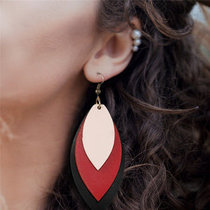 Retro Leather Earrings_01el/ 8 Colors Available; Click to View