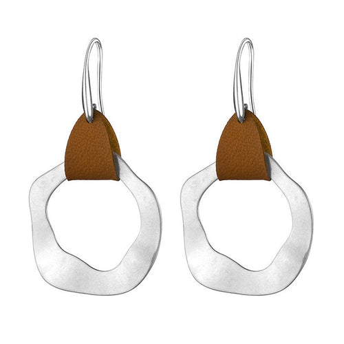 Drop  Leather Earrings