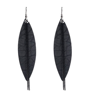 Leather Drop Earrings_ 20le/ 6 Colors Available, Click to View