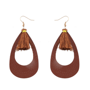 Leather Earrings Dangle Drop_28le/ 4 colors Available
