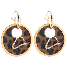Leather Snake Earrings _37le/ 11 Colors Available, Click to View