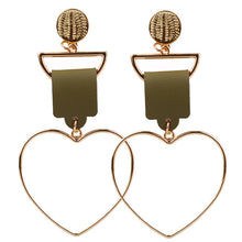 Fashion Heart Earrings_36le/ 3 Colors Available, Click to View
