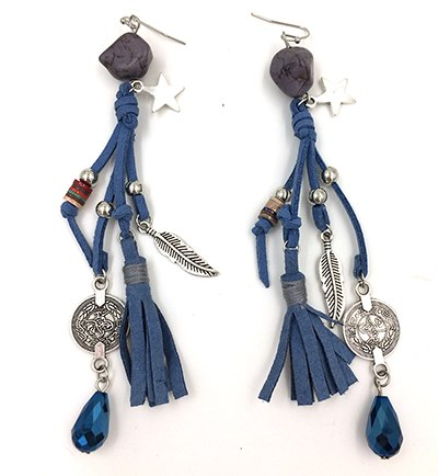Long Leather Earrings _33le/ 4 Colors Available, Click to View