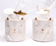 White Ceramic Cute Cat Burner