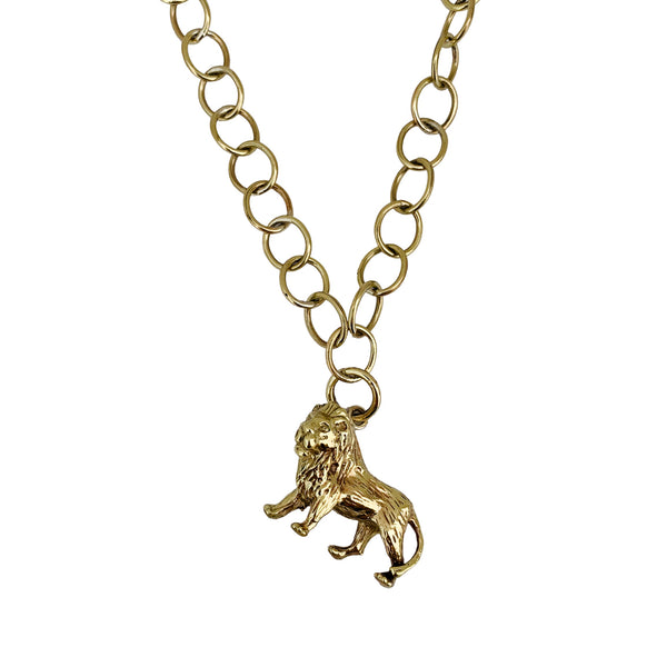 Chunky Standing Lion Necklace