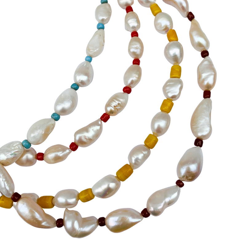 African Pearl Bead Necklace