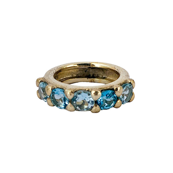 Chunky Gem Blue Topaz Ring