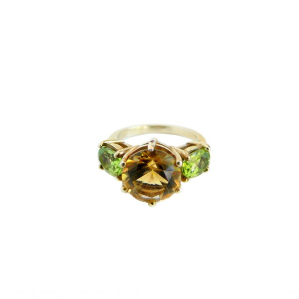 Citrine & Peridot Glam Rock Ring