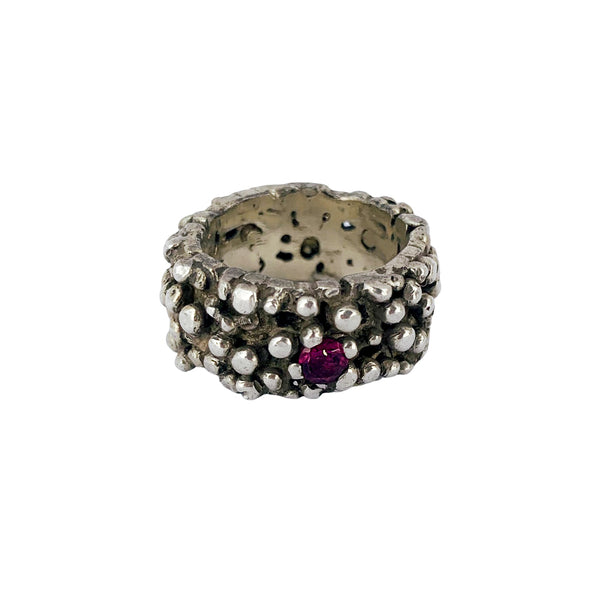 One-in-a-million Ring with Rhodolite