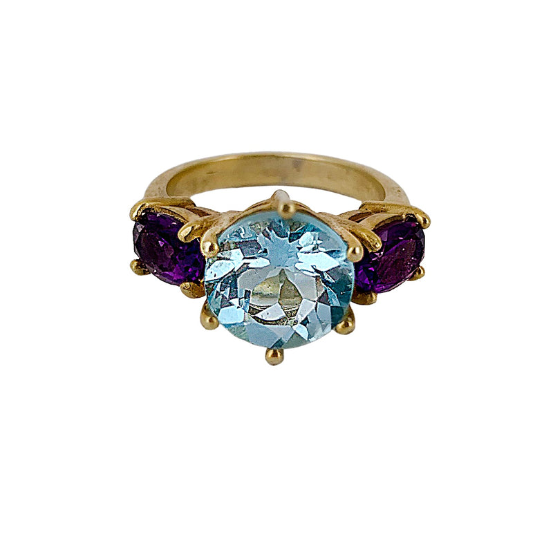 Amethyst & Blue Topaz Glam Rock Ring
