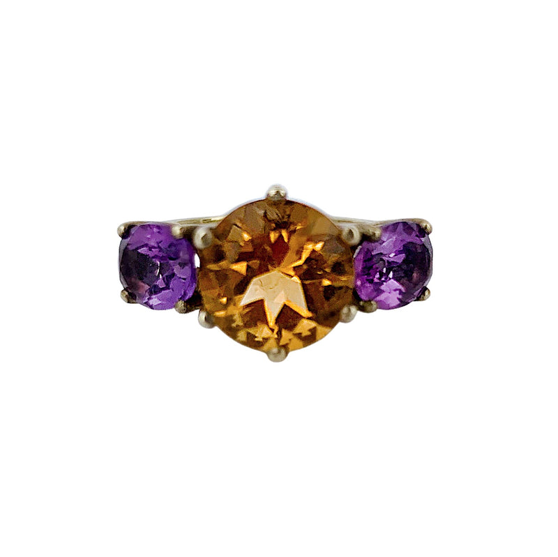 Citrine & Amethyst Glam Rock Ring