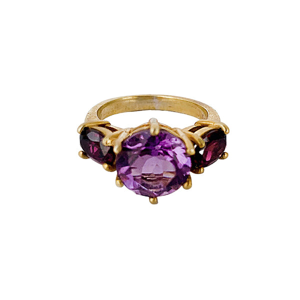 Amethyst & Rhodolite Glam Rock Ring