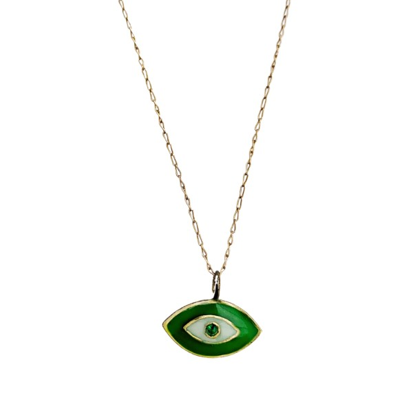 Enamelled Gem Eye Necklace
