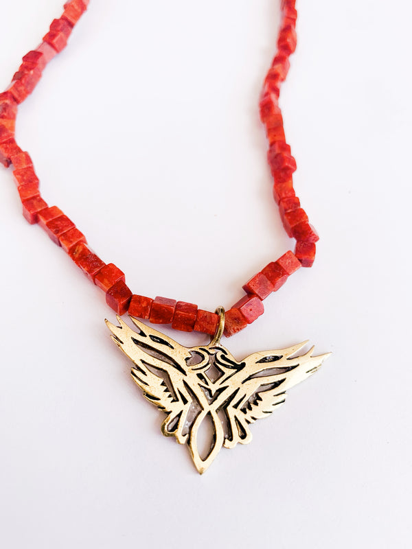 Coral Phoenix Necklace