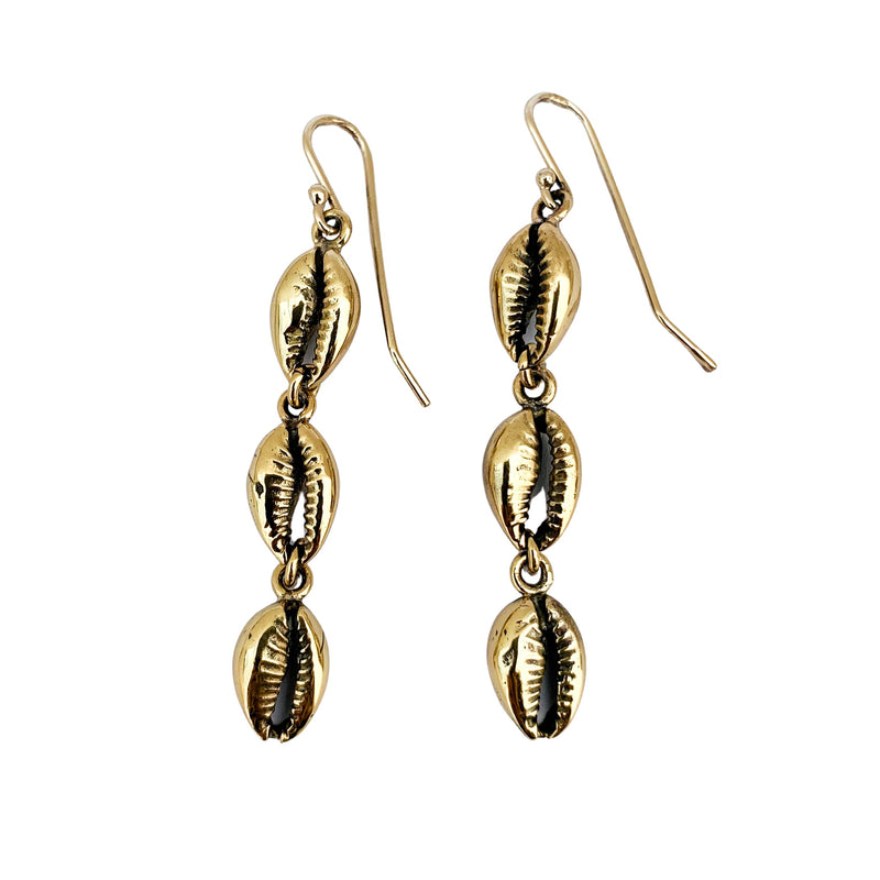 Long Cowrie Earrings