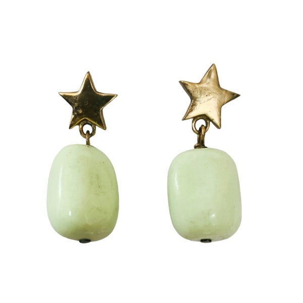 Star Drop Gemstone Earrings