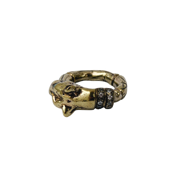 Lioness Head Ring