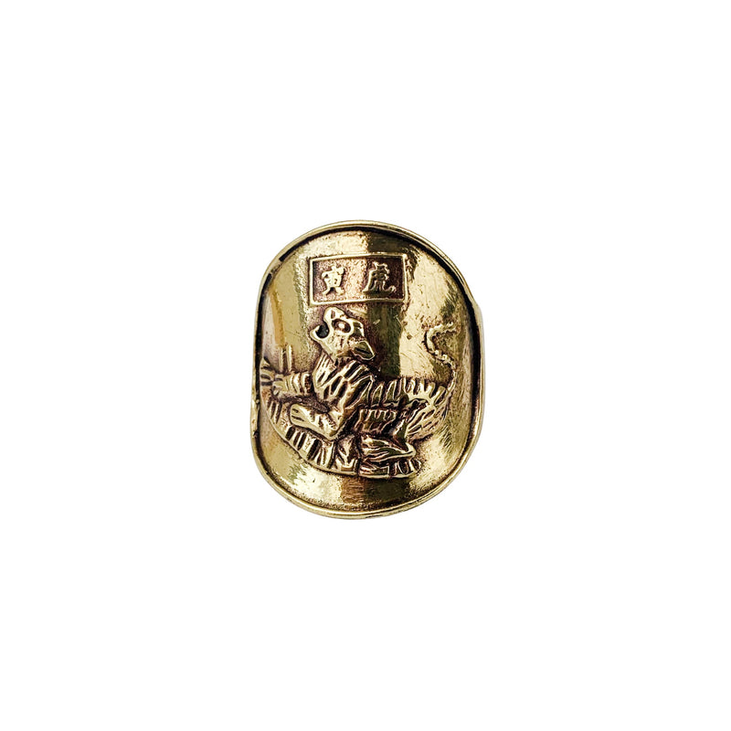 Saigon Tiger Coin Ring