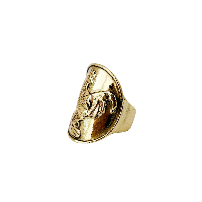 Saigon Rooster Coin Ring