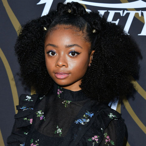 People with hair type 4A have dense springy, S-patterned coils that are the circumference of a crochet needle. Look to Skai Jackson if you have this texture.