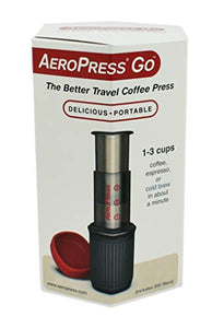 AeroPress Go Portable Travel Coffee Press, 1-3 Cups - Makes Delicious Coffee, Espresso and Cold Brew in 1 Minute
