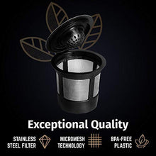 Load image into Gallery viewer, Reusable K Cups For Keurig 2.0 & 1.0 Brewers Universal Fit For Easy To Use Refillable Single Cup Coffee Filters - Eco Friendly Stainless Steel Mesh Filter (Pack of 4)