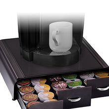 Load image into Gallery viewer, Mind Reader 'Anchor' Triple Drawer K-Cup Dolce Gusto, CBTL, Verismo Single Serve Coffee Pod Holder, Black