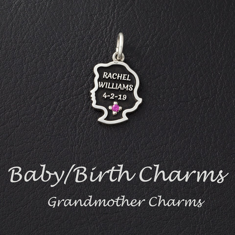 baby and birth charms mother charms grandmother charms custom baby charms