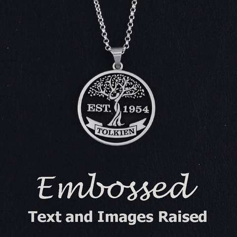create your own embossed jewelry text and images raised