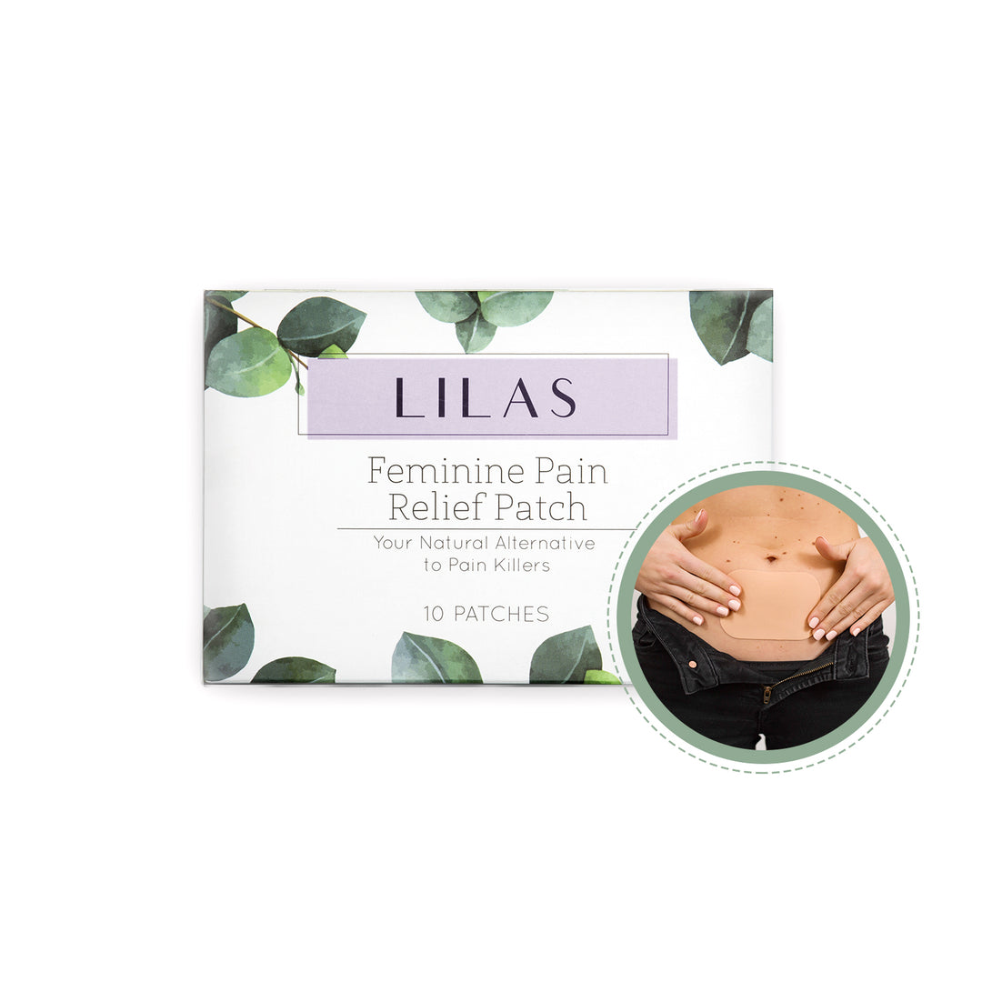 10 LILAS Pain Relief Patches. All Natural Painkiller Alternative. Designed for Period Cramps