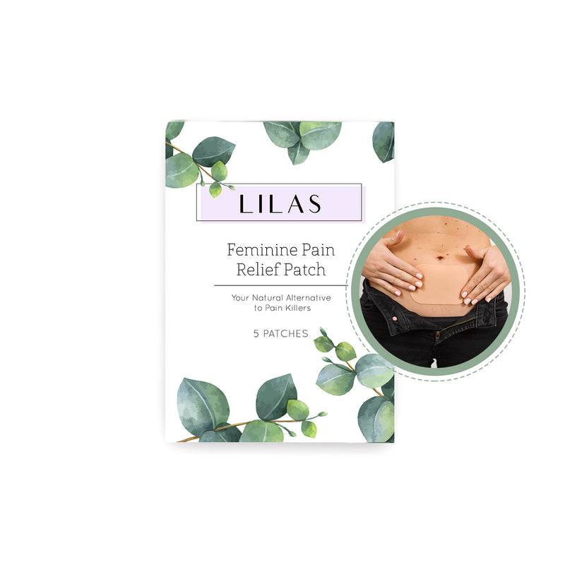 5 LILAS Pain Relief Patches. All Natural Painkiller Alternative. Designed for Period Cramps