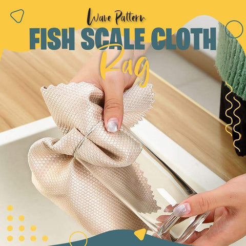 ✨ Hot Sale 50%OFF✨ Wave Pattern Fish Scale Cloth Rag