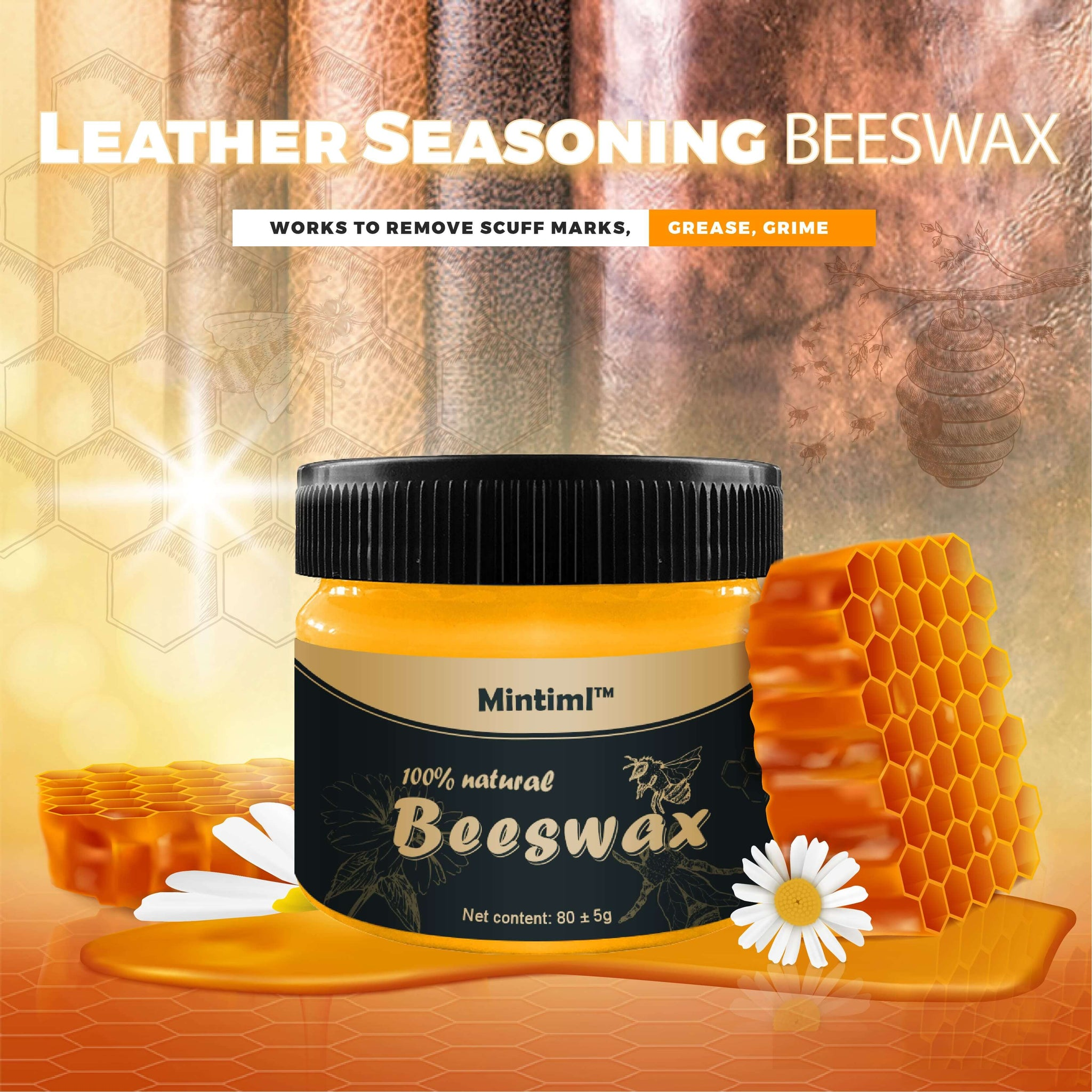 Leather Seasoning Beeswax(Limited Time Price)