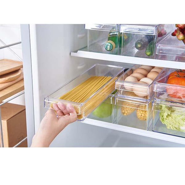 Refrigerator Drawer Storage Box Transparent Refrigerator Storage Box