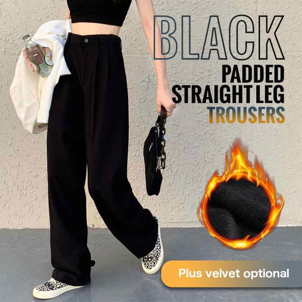 🔥Christmas Sale 50% OFF🔥Black Wide Leg Thick Pants