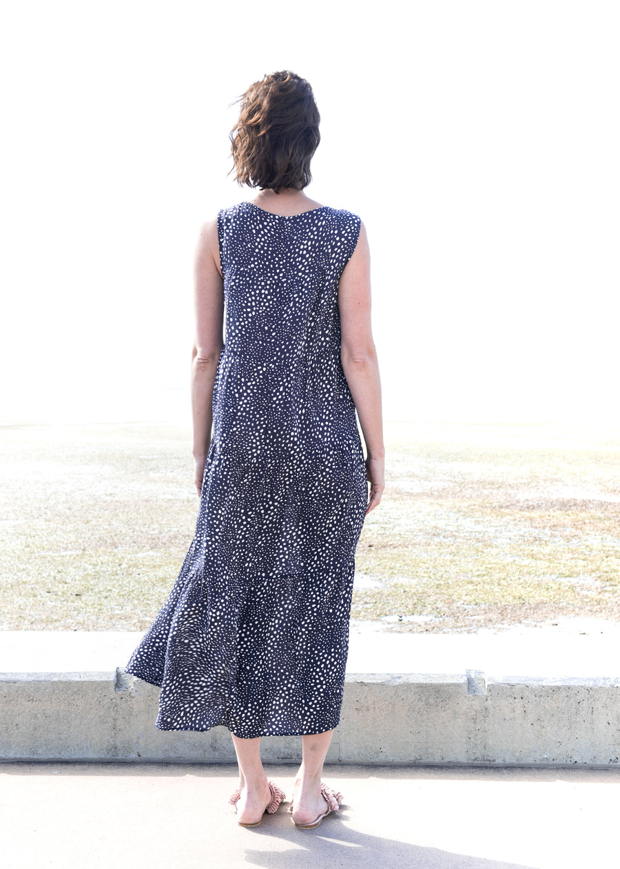 Dizi Dress in Dusted Ink