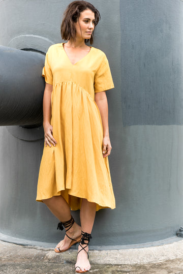 Banhu Dress in Honey