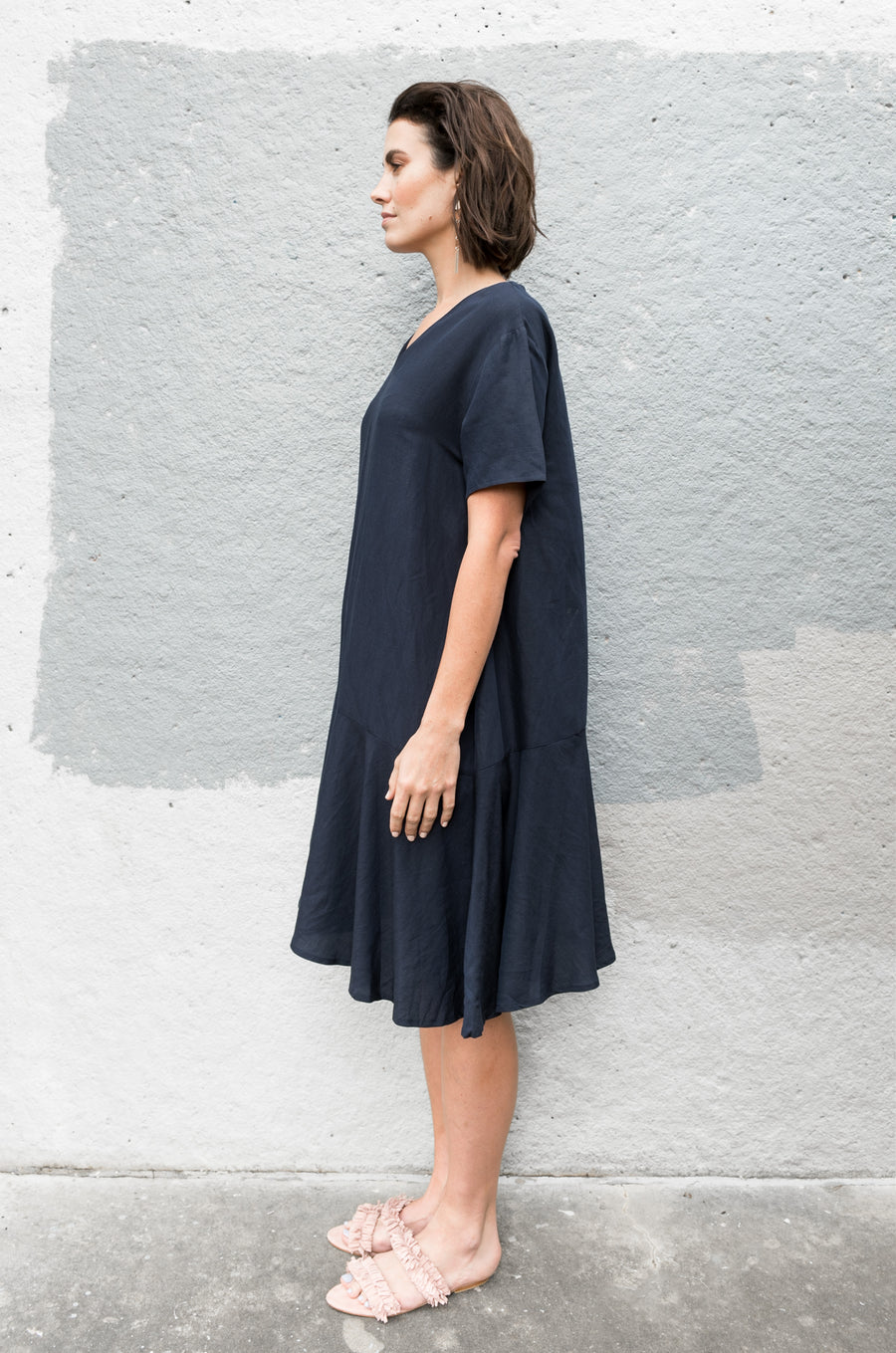 Huqin Dress in Navy
