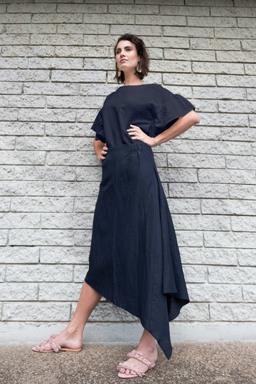 Pipa Skirt in Navy