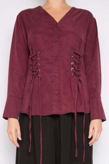 Muyu Top in Rosewood