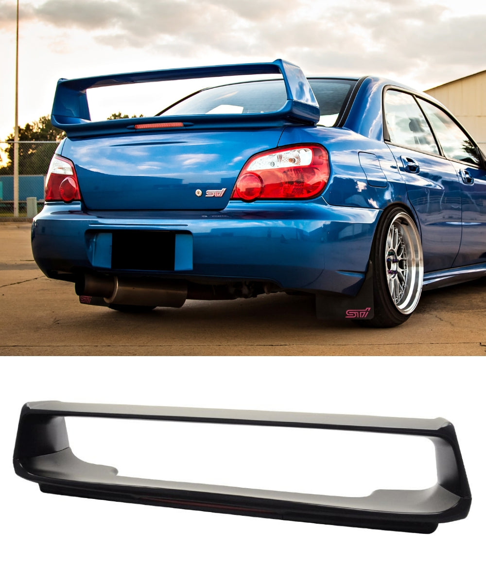 Subaru Impreza WRX STI - Rear Trunk Spoiler + Brake Light (STI STYLE) (02-07)