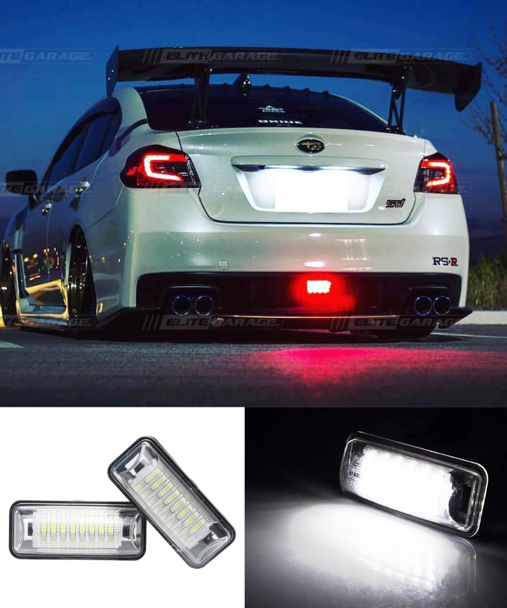 Subaru WRX STI - Rear License Plate LED (15-19) - ELITE GARAGE