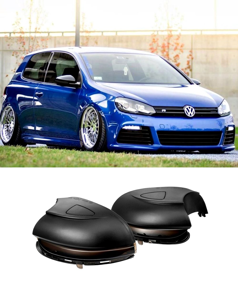 Volkswagen Golf MK6 - Sequential Side Mirror LED Indicators (SMOKED) (08-12) GTI / R - ELITE GARAGE